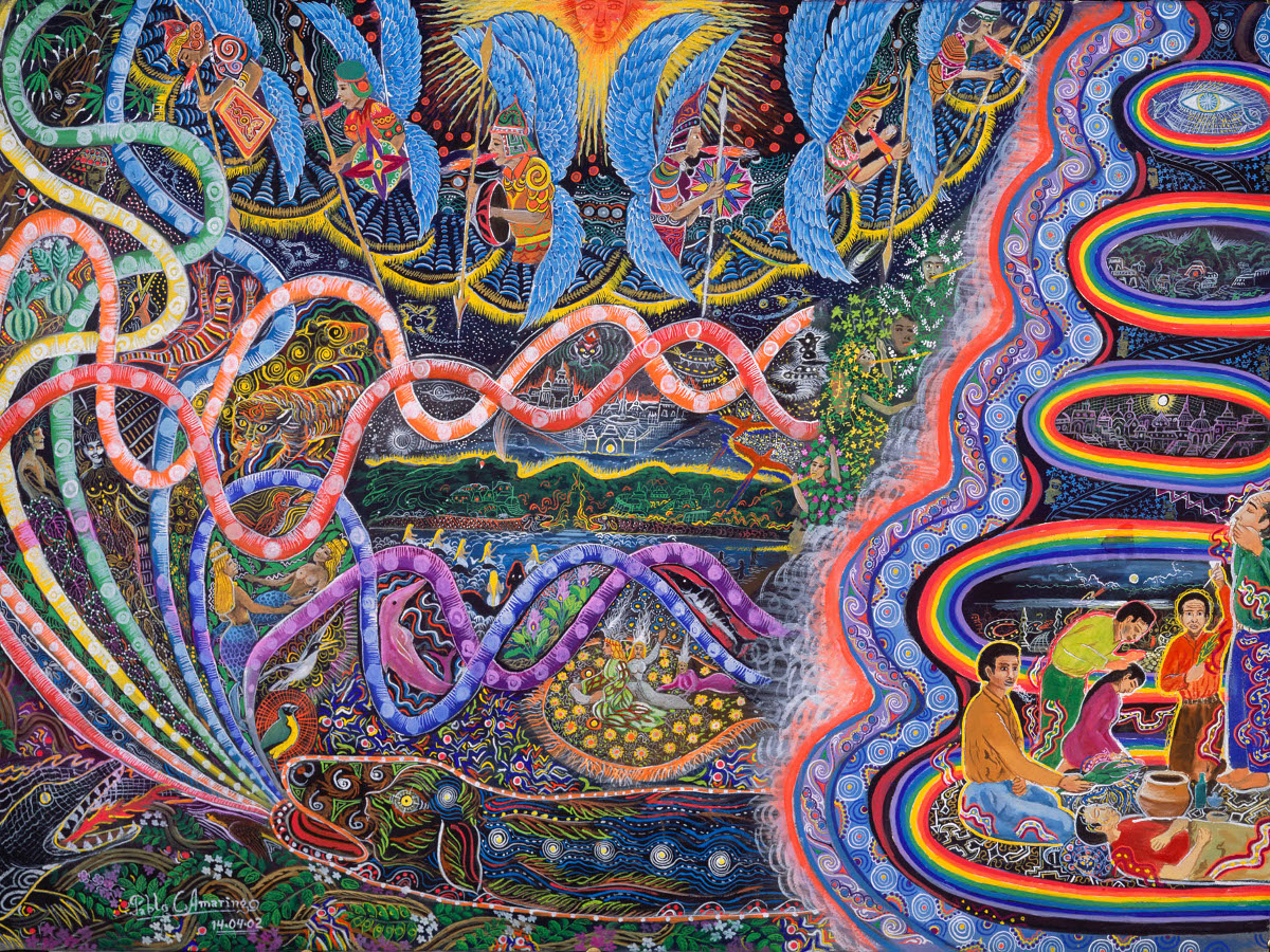 Vibration of ayahuasca, from the book: 'The Ayahuasca Visions of Pablo Amaringo'